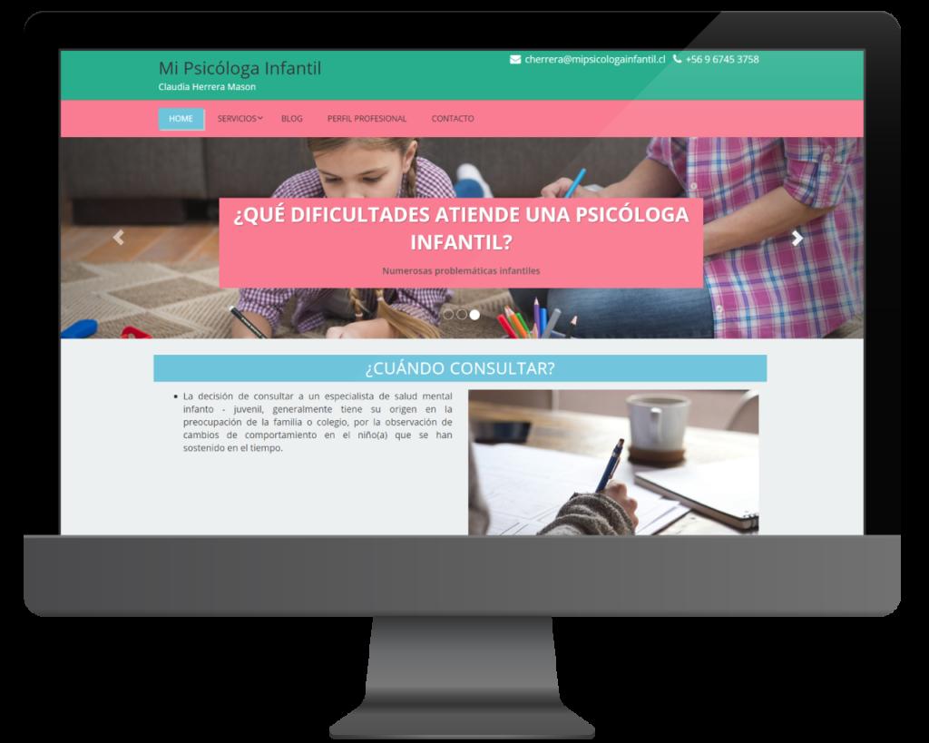 diseño web mi psicologa infantil